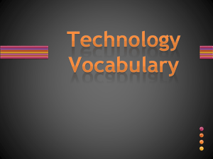 Technology Vocabulary