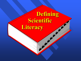 Defining Scientific Literacy