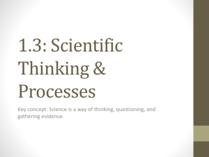 1.3: Scientific Thinking & Processes