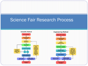 Science Fair Research Process - State Science and Engineering