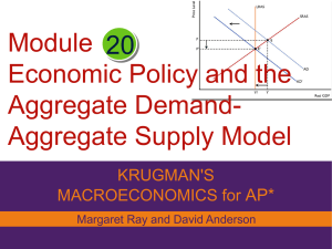 Module Economic Policy and the Aggregate Demand