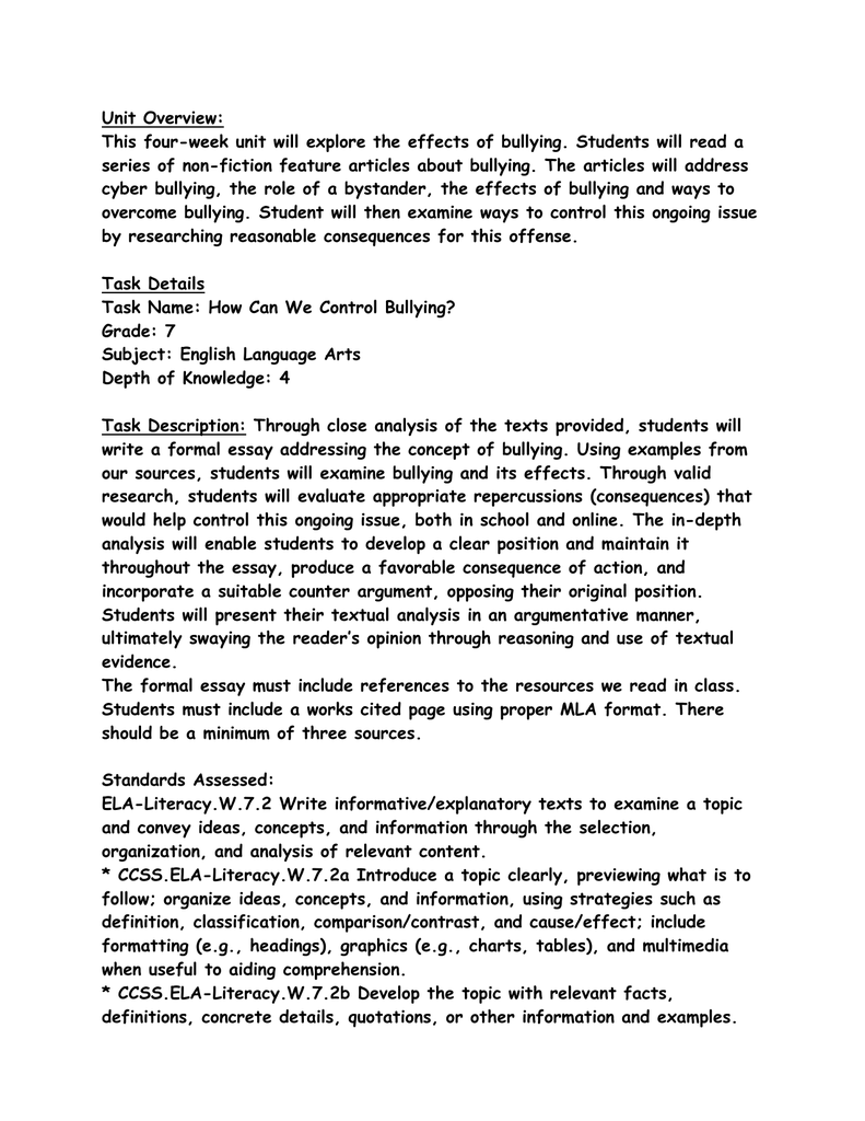 essay bullying in schools Free essay on school bullying uploaded by hieunguyen100 on oct 25, 2012 bullying in schools - behaviours school bullying occurs in every realm of society.