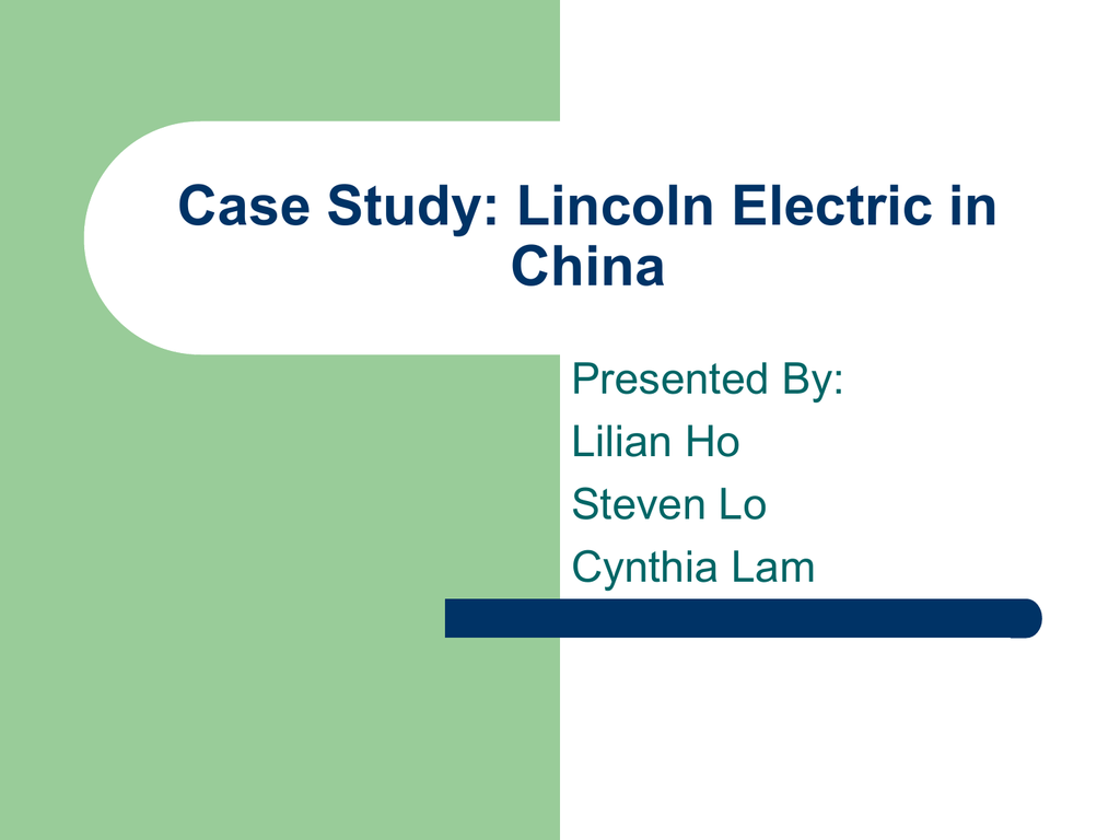 lincoln electric case analysis