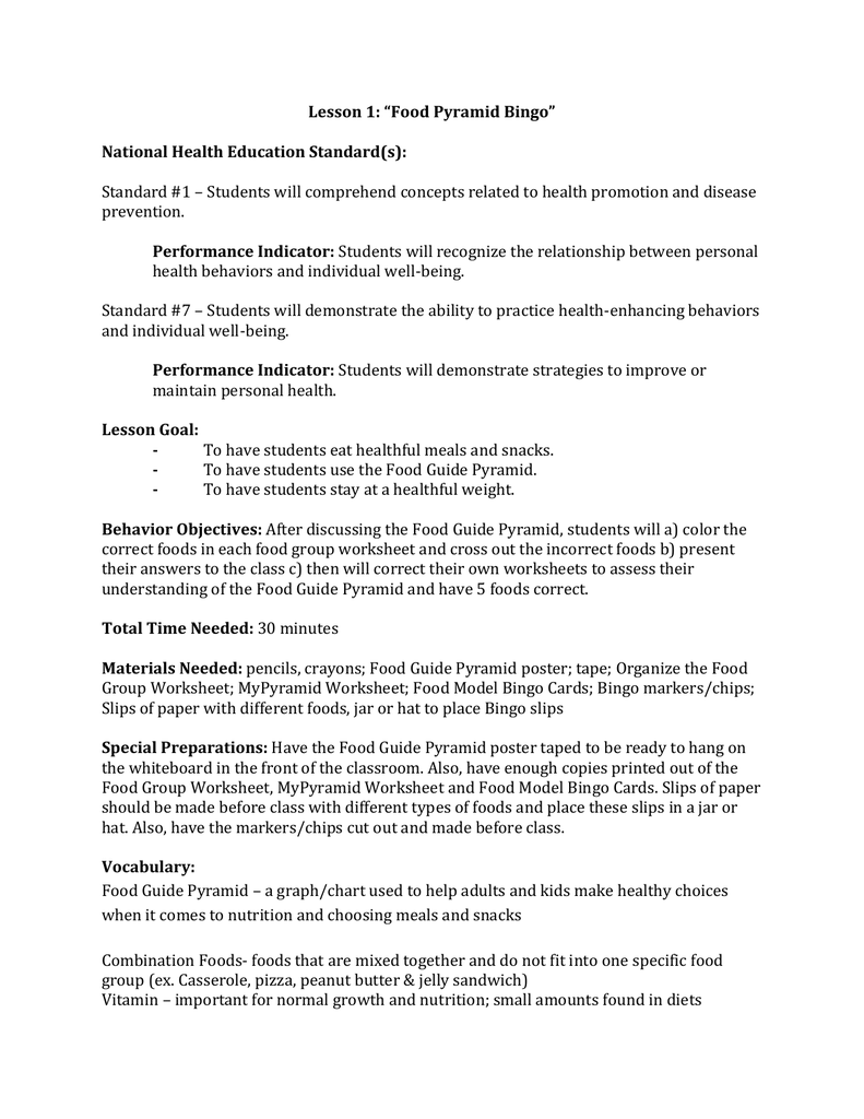 worksheet Mypyramid Worksheet 5 day nutrition module