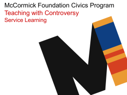 PPT - McCormick Foundation