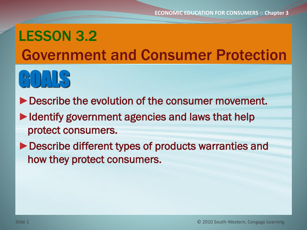 CHAPTER 3 CONSUMER PROTECTION Rights, Responsibilities