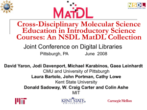 Cross-disciplinary molecular science education in