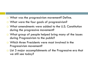 Progressivism Movement