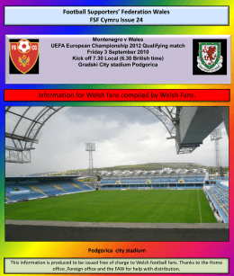 FSF Cymru Guide to Podgorica - Football Supporters' Federation