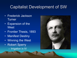 4 Cap Dev of SW - Department of History