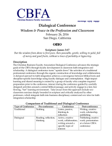Dialogical Conference Wisdom & Peace in the Profession