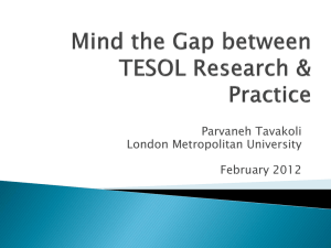 TESOL teachers' views on research and practice