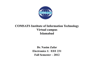 (a) Fixed-Bias Circuit. - COMSATS Institute of Information