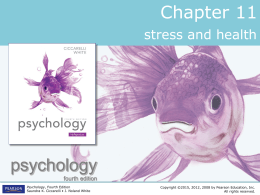 Chapter 11 Power Point: Stress and Health