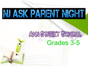 NJ ASK Parent Night