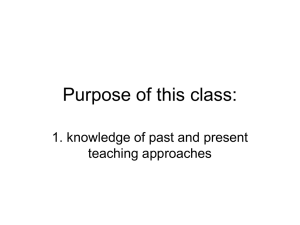 Purpose of this class: