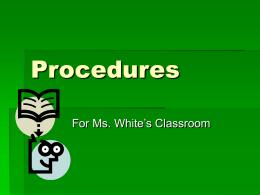 Class Procedures Presentation