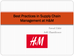 How to characterize H&M Supply Chain Management