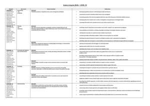 Level 10 -Mapping Standards to Content Descriptions