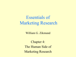 Chapter 4 - Essentials of Marketing Research