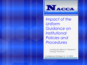 UG – Impacts of the Uniform Guidance on Institutional