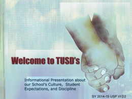 Welcome to TUSD*s