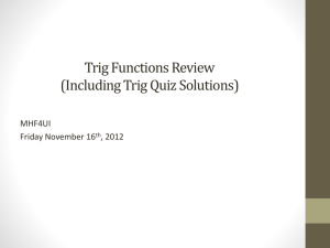 trig functions review
