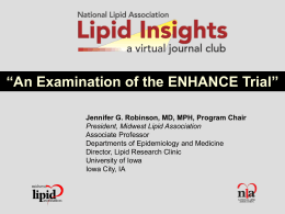 ENHANCE Study - National Lipid Association