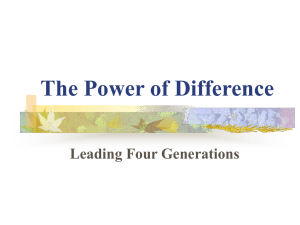 The Power of Difference: Leading Four Generations
