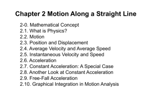 Chapter 2 Motion Along a Straight Line