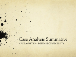 Case Analysis Summative