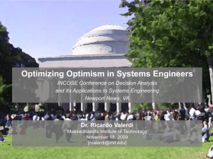 Optimizing Optimism in Systems Engineers