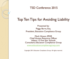 Top 10 Tips for Limiting Liability