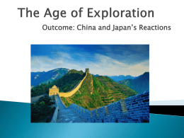 Exploration: China and Japan PPT