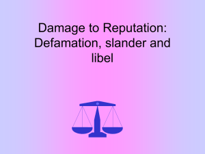 Damage to Reputation