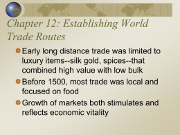 Ch. 12: Establishing World Trade Routes