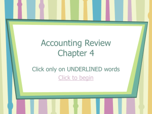 Accounting Review Chapter 4