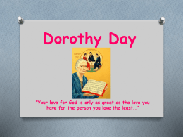 Dorothy Day PowerPoint