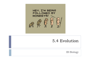 5.4 Evolution - PSimpsonBiology