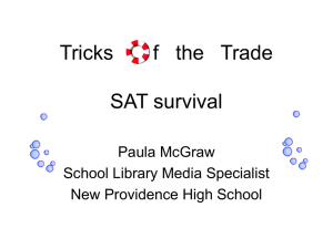sat test taking tips - New Providence School District