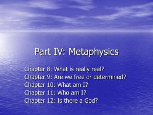 Part IV: Metaphysics