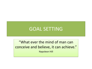 goal setting - MDC Faculty Home Pages