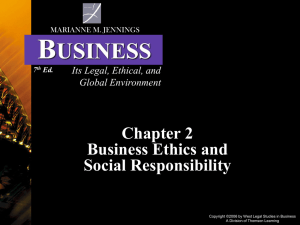 Jennings 7th Ed. Business-Legal Ethical Global