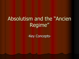 "Absolutism and the ""Ancien Regime"""