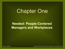 People-Centered Managers and Workplaces