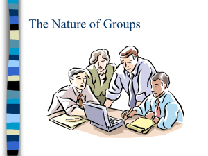 The Nature of Groups