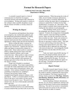 Scientific Report Writing Tips