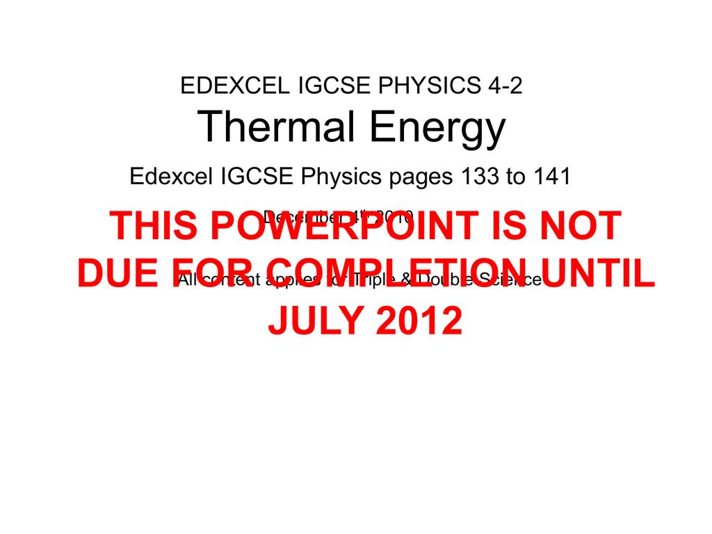 IGCSE-42-Thermal Energy Presentation