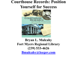 Courthouse Research: Position Yourself for Success