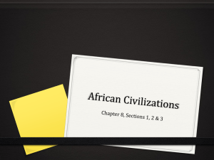 for Unit 3: African Civilizations, Societies and Empires
